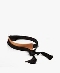 forte_forte Leather Tie Belt - Naturale Black
