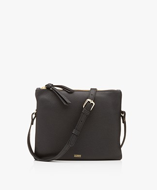 Closed Duo Leather Shoulder Bag - Black