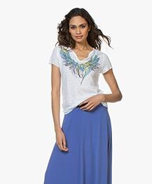Zadig & Voltaire Tunisien Mc Wings T-shirt - Wit