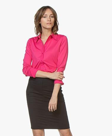 Buzinezz By BRAEZ Tech Jersey Blouse - Pink