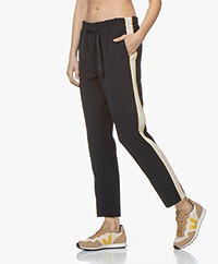 Closed Blanch Twill Side Stripe Pants - Dark Night