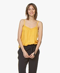 MKT Studio Hanzou Modal Top with Lace - Jaune