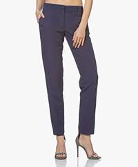 Pomandère Viscose Linen Blend Pants - Blue