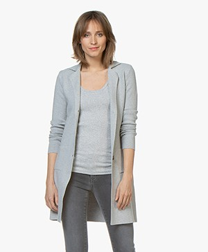 Belluna Wish Half Long Blazer Cardigan - Light Ash