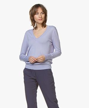 Filippa K Merino V-neck Sweater - Hyacinth