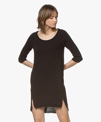 BRAEZ Cotton Mousseline Tunic Dress - Black