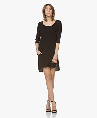 BRAEZ Cotton Mousseline Tunic Dress - Black