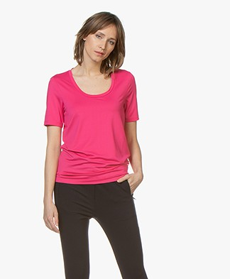Buzinezz By BRAEZ Tech Jersey T-shirt with Round Neck - Pink