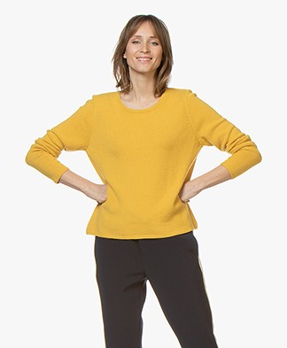 Sibin/Linnebjerg Melfi Sweater with Cashmere - Yellow