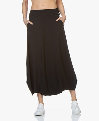 JapanTKY Ilvy Travel Jersey Harem Pants - Black