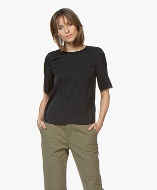 Filippa K Zijden T-shirt - Navy