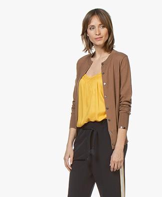 extreme cashmere N°94 Little Cardi Vest - Tan