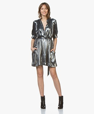 Zadig & Voltaire Retouch Metallic Foil Dress - Silver