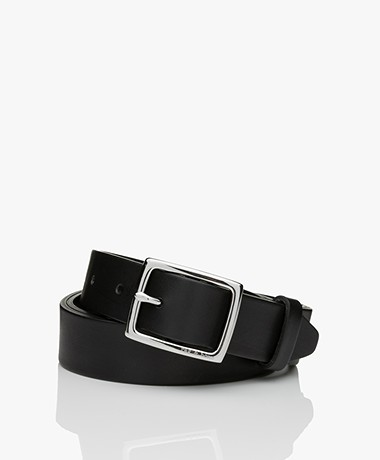 Rag & Bone Boyfriend Leather Belt - Black