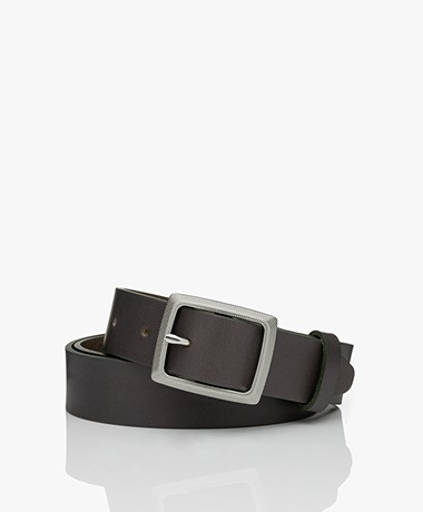 Rag & Bone Boyfriend Leather Belt - Safari Khaki