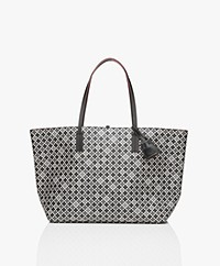 By Malene Birger Abigail Tote Bag - Black/Grey/Burgundy