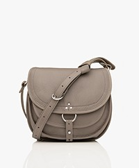 Jerome Dreyfuss Felix M Saddle Shoulder/Cross-body Bag - Taupe Grey