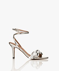 ba&sh Carmine Leather Heeled Sandals - Silver