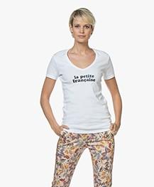 La Petite Française Thibault Logo T-Shirt - White