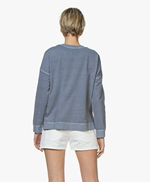 indi & cold Garment Dyed Broderie Sweatshirt - Plomo