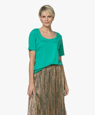 Repeat Jersey Lyocell Blend T-shirt - Emerald