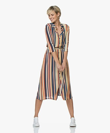 Siyu Rayas Striped Tech Jersey Dress - Multi