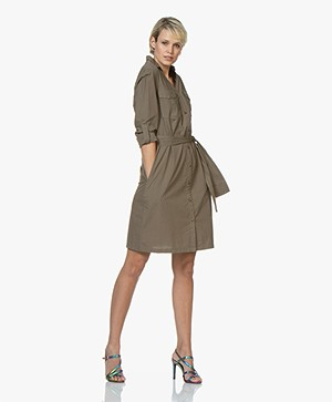 MKT Studio Robbie Cotton Poplin Shirt Dress - Khaki