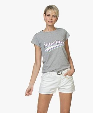 Zadig & Voltaire Skinny Sunshine Print T-shirt - Grijs