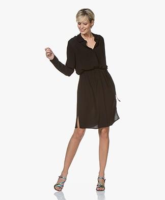 BRAEZ Viscose Crepe Shirt Dress - Black