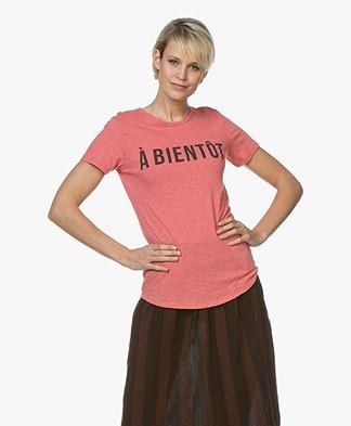 BY-BAR Moly Flame T-shirt - Flamingo Roze