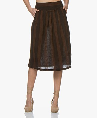 BY-BAR Romee Stitch A-line Skirt - Black