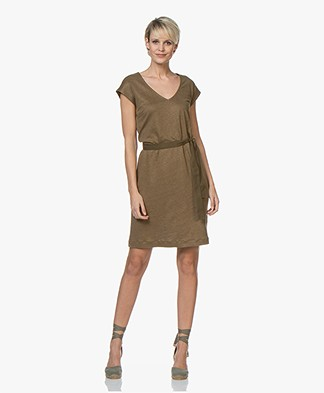 BY-BAR Sofia Linen Jersey Dress - Earth