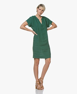 BY-BAR New Gitte Linen Dress - Evergreen