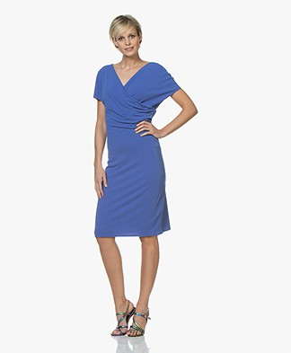 By Malene Birger Crepe Jersey Wrap Dress - Vintage Blue