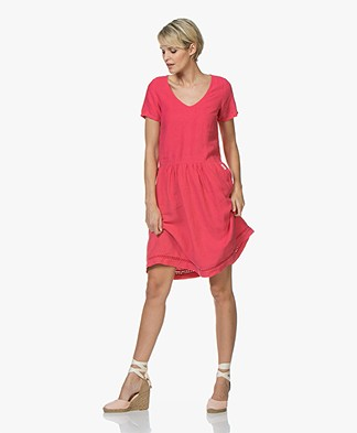 Josephine & Co Caspar Linen Dress - Fuchsia