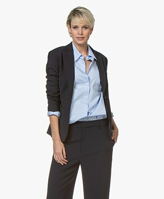 Filippa K Sasha Cool Wool Blazer - Navy