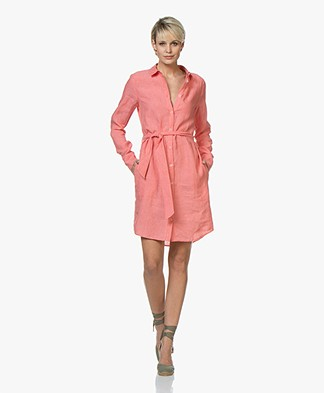 Josephine & Co Coen Linen Shirt Dress - Pink