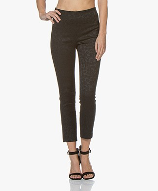 Rag & Bone Simone Jacquard Slim-fit Pants - Black