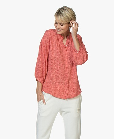 BY-BAR Cecile Dotted Viscose Blouse - Salsa