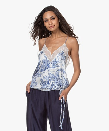Zadig & Voltaire Chris Printed Silk Camisole - Blue