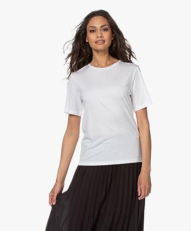 By Malene Birger Amatta Lyocell T-shirt - Pure White