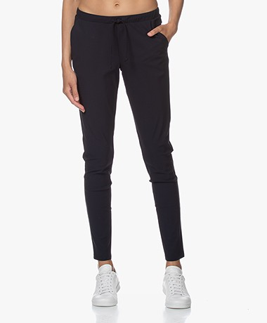 Woman By Earn Fae Tech Jersey Pants - Navy
