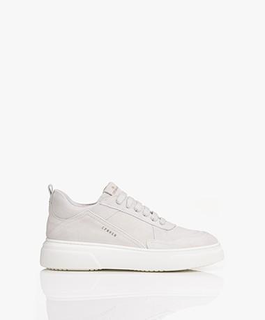 Copenhagen Lage Suède Leren Sneakers - Lichtgrijs