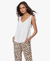 ba&sh Figue Reversible Crêpe Top - Off-white
