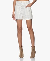 By Malene Birger Svensson Pinstripe Twill Shorts - Soft White