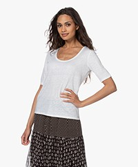 Majestic Filatures Linnen Jersey T-shirt - Wit