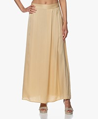 no man's land Satin Maxi Skirt - Desert