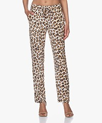 no man's land Jersey Print Broek - Light Pearl Grey