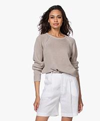 Filippa K Natalie Pure Linen Sweater - Grey Beige