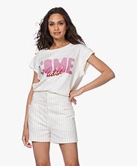 ba&sh Coby Print T-Shirt - Off-white